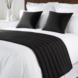 Comfort Simplicity Black Runners and Cushions