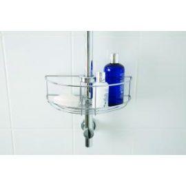Easy fit shower riser rail basket