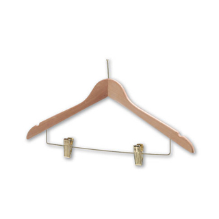Light Wooden Hanger with stem and clips