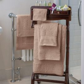Essentials Nova Bath Mats And Towels Beige