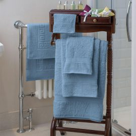 Essentials Nova Bath Mats And Towels Blue