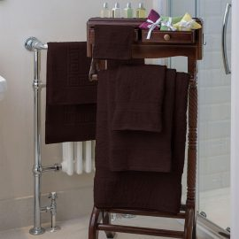 Essentials Nova Bath Mats And Towels Chocolate