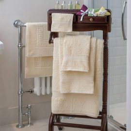 Essentials Nova Bath Mats And Towels Cream