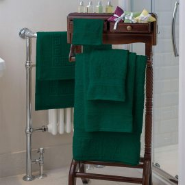 Nova Bath Mats And Towels Dark Green