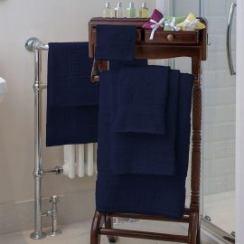Essentials Nova Bath Mats And Towels Navy Blue
