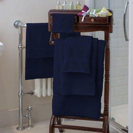 Essentials Nova Bath Mats And Towels Navy Blue