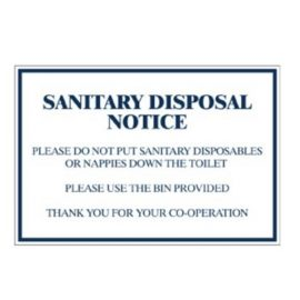 Sanitary Disposal Notice