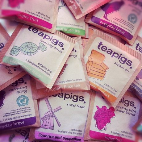 teapigs envelopes in a pile