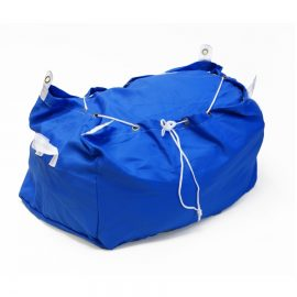 Blue Hamper Style Laundry Bag