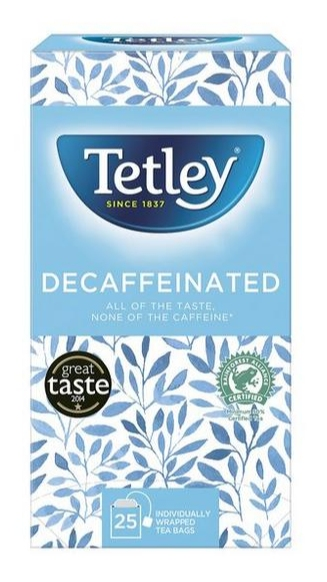 Tetley Enveloped Decaf Tea