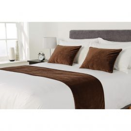 Essentials Regency Cushion Bed Runner Chocolate