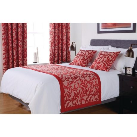 Essentials Kensington Bed Runner and Cushions Chilli