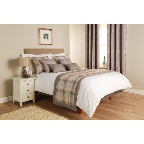 Luxury Chatsworth Bed Runner and Cushions Slate With Border