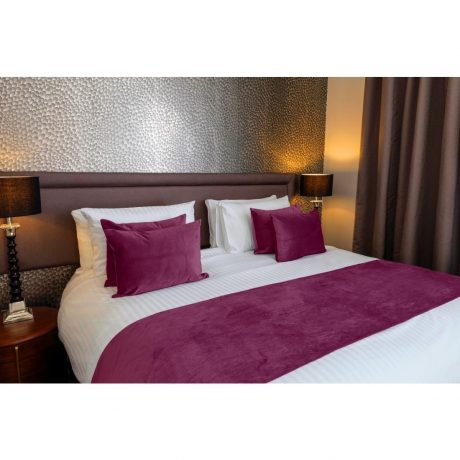 Essentials Regency Bed Runner Cushion Cover Unpiped Plum