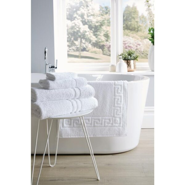 Eco Towel Range pattern by bath 1