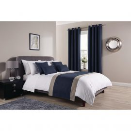 Comfort Tundra Prussian Room Runners and Cushions