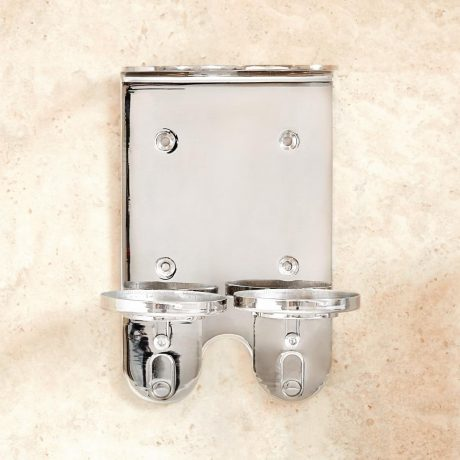 Envoque 300ml Dispenser Double Stainless Steel Wall Bracket