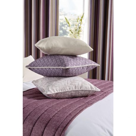 Luxury Fiorella Cushion and Runner Aubergine