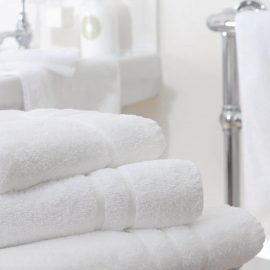 Essentials Nova Bath Mats And Towels White