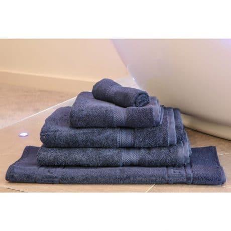 Essentials Nova Bath Mats And Towels Navy