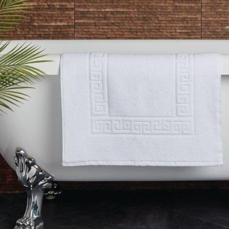 Essentials Nova Bath Mats And Towels White