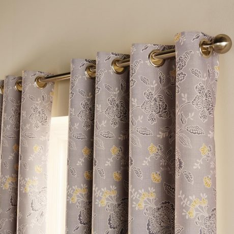 Luxury chatsworth curtains slate
