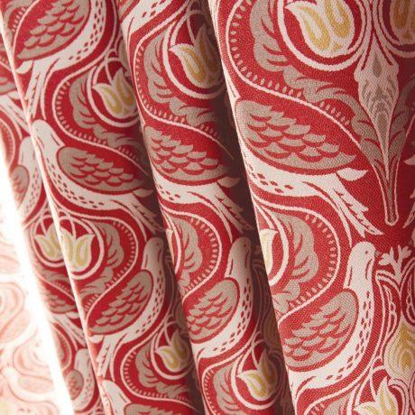 Luxury chatsworth curtains Claret