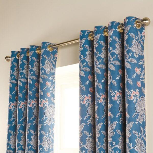 Luxury chatsworth curtains petrol