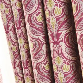 Luxury chatsworth curtains pistachio