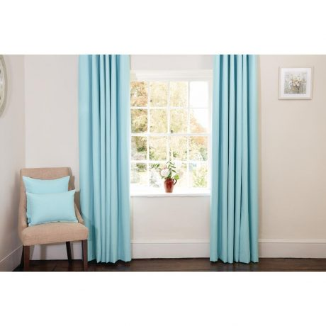 Sky Blue Curtains and Cushions