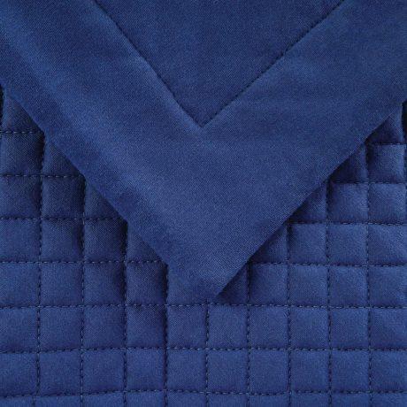 Essentials Waffle Quilted cushion Denim Blue