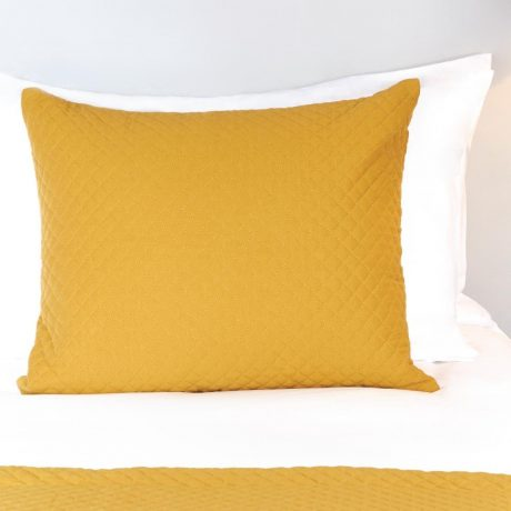 Essentials Waffle Quilted cushion Cover Ochre