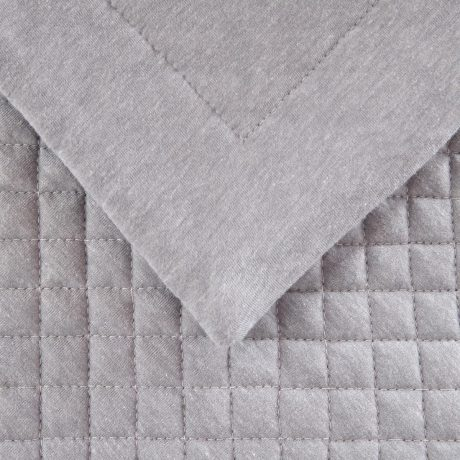 Essentials Waffle Quilted cushion Grey