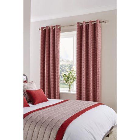 Fiorella Curtain Garnet