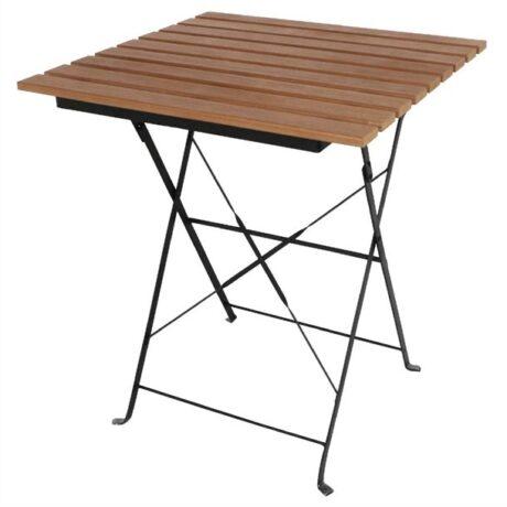 Bolero Square Faux Wood Bistro Folding Table
